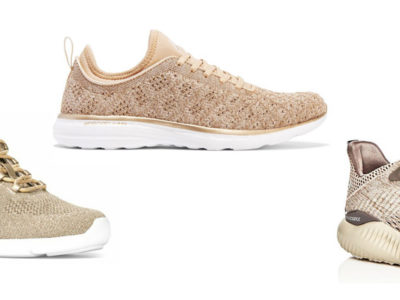 Shine Bright With These 7 Cute Gold Shiny Sneakers