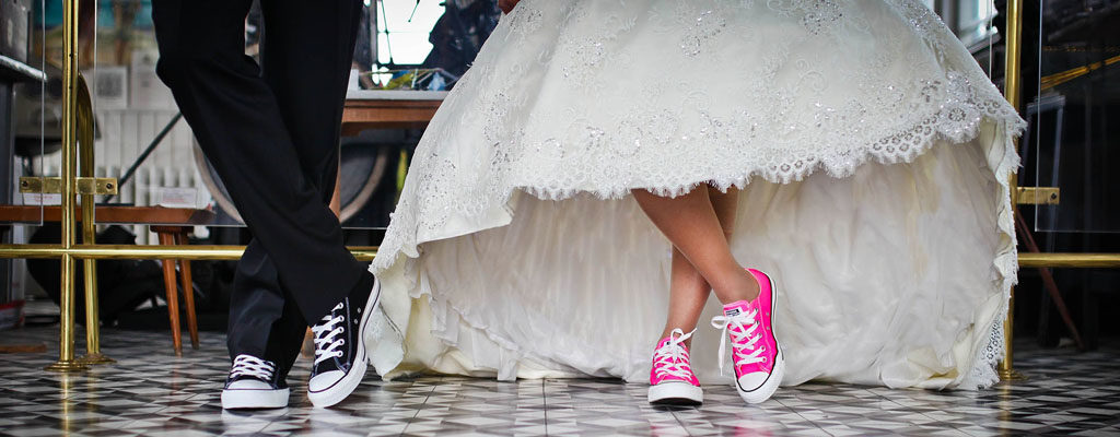 Bridal Trend: 10 Cute Sneakers You Can Wear Under Your Wedding Dress