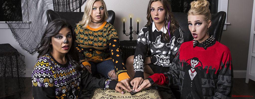 ถึงจะขี้เกียจแค่ไหนก็อินกับเทศกาลฮาโลวีนได้ด้วย Halloween Sweaters หลากหลายลายมิกซ์ใส่ได้ไม่จำกัด